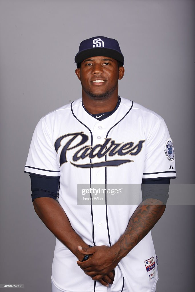 Rymer Liriano #28 of the San Diego Padres poses during Photo Day on Monday, March 2, 2015 at Peoria Stadium in Peoria, Arizona.