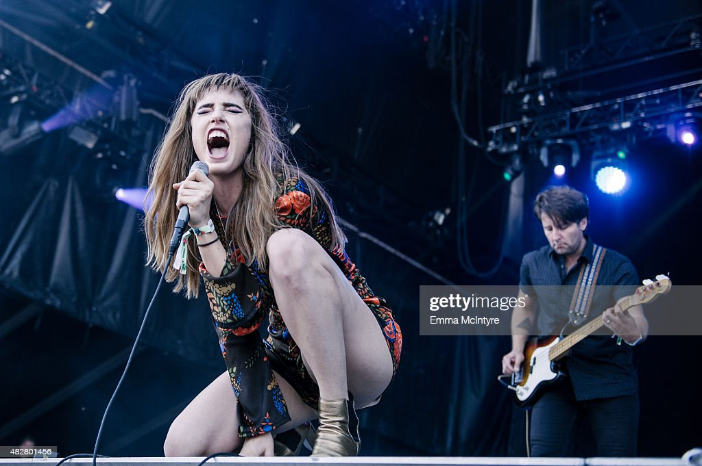 Ryn Weaver performs on Day Three of the Osheaga Music and Arts Festival on August 2, 2015 in Montreal, Canada.
