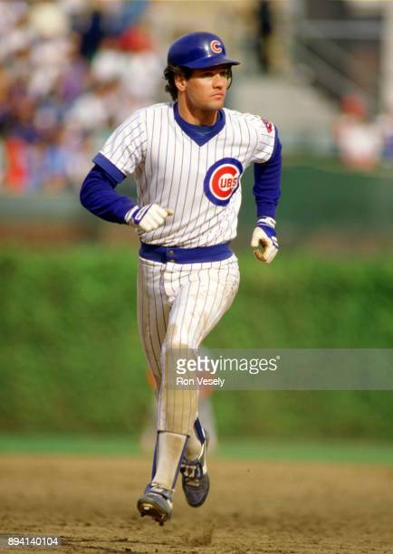 Ryne Sandberg of the Chicago Cubs runs the bases during an MLB game at Wrigley Field in Chicago Illinois during the 1986 season