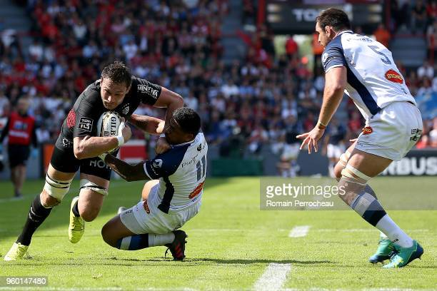 Rynhardt Elstadt of Toulouse in action during the French Top 14 match between Stade Toulousain and Castres at Stade Ernest Wallon on May 19 2018 in...