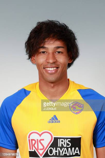 Ryo Germain poses for photographs during the Vegalta Sendai portrait session on January 9, 2020 in Japan.