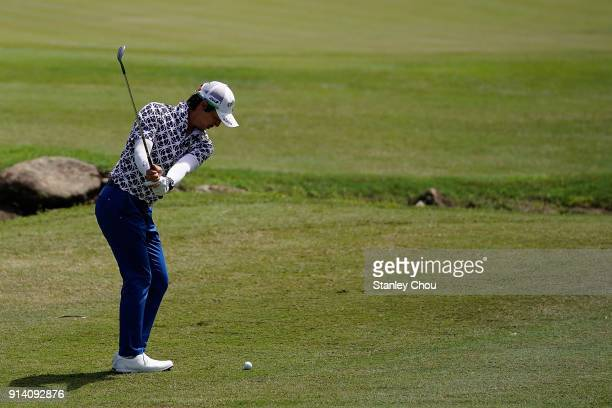 Ryo Ishikawa of Japan in action during day four of the Maybank Championship Malaysia at Saujana Golf and Country Club on February 4 2018 in Kuala...