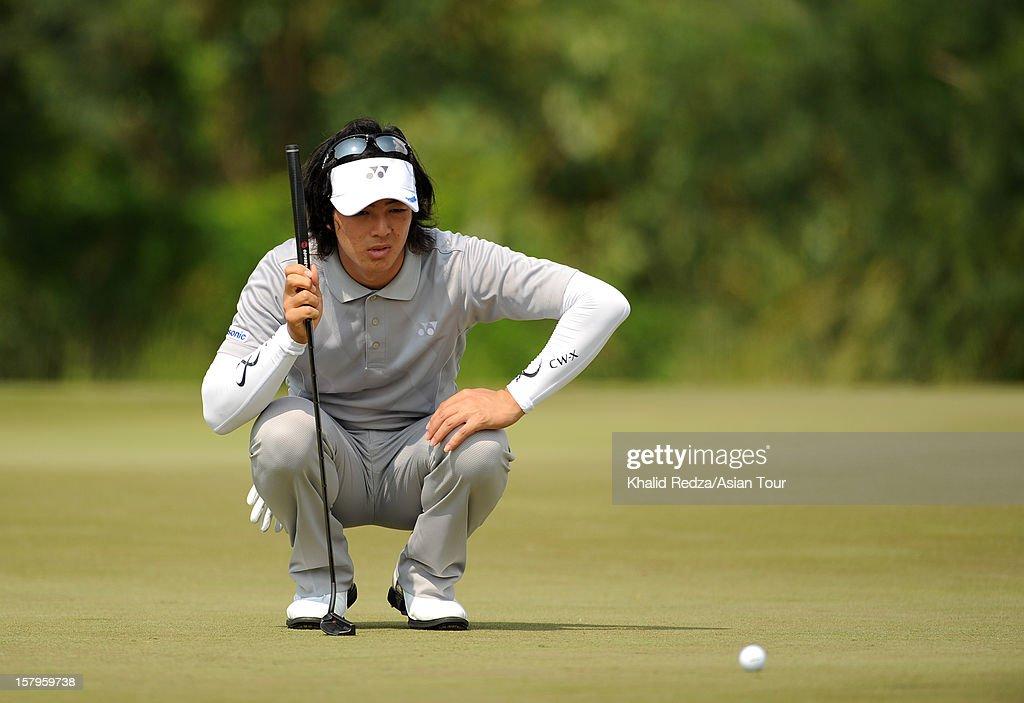 Ryo Ishikawa of Japan in action during round three of the Thailand Golf Championship at Amata Spring Country Club on December 8, 2012 in Bangkok, Thailand.