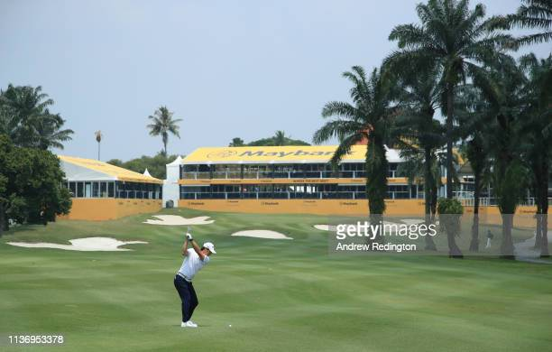 Ryo Ishikawa of Japan in action during the Pro Am event prior to the start of the Maybank Championship at the Saujana Golf & Country Club, Palm...