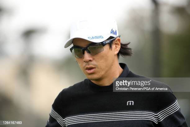 Ryo Ishikawa of Japan looks on during a practice round prior to the 2020 PGA Championship at TPC Harding Park on August 05 2020 in San Francisco...