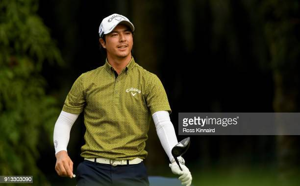 Ryo Ishikawa of Japan on the 18th tee during the second round of the Maybank Championship Malaysia at Saujana Golf and Country Club on February 2,...