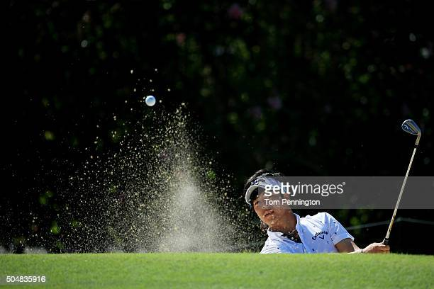 Ryo Ishikawa of Japan plays a shot during the Sony Open In Hawaii Pro-Am tournament at Waialae Country Club on January 13, 2016 in Honolulu, Hawaii.