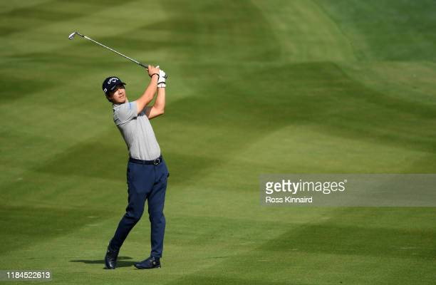 Ryo Ishikawa of Japan plays his second shot on the second hole during Day One of the WGC HSBC Champions at Sheshan International Golf Club on October...