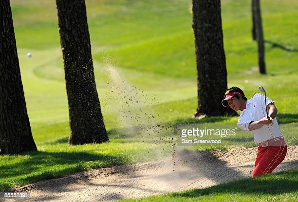 Ryo Ishikawa of Japan plays the ninth hole during the final round of the Transitions Championship at the Innisbrook Resort and Golf Club March 22...