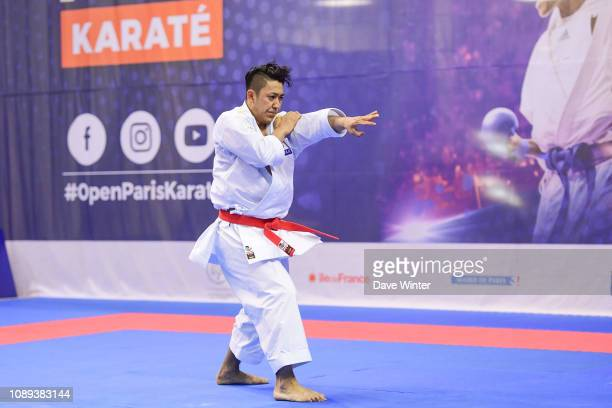 Ryo Kiyuna of Japan during the Day 2 of the Karate French Open at Salle Pierre Coubertin on January 26 2019 in Paris France