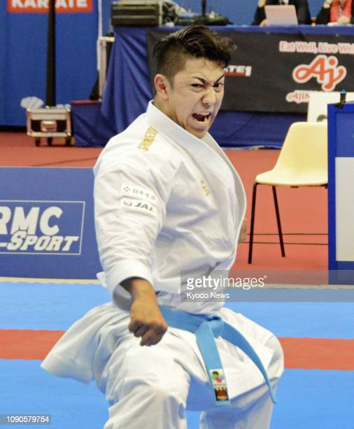 Ryo Kiyuna of Japan performs en route to winning the men's kata at the Karate 1 Premier League in Paris on Jan 27 2019 ==Kyodo