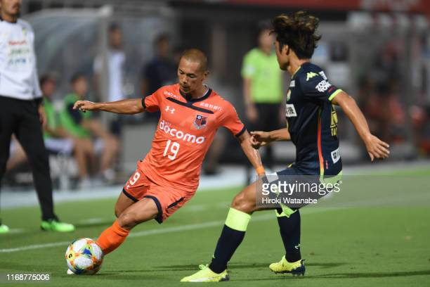Ryo Okui of Omiya Ardija in action during the J.League J2 match between Omiya Ardija and JEF United Chiba at Nack 5 Stadium Omiya on August 18, 2019...