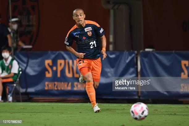 Ryo Okui of Shimizu S-Pulse in action during the J.League Meiji Yasuda J1 match between Shimizu S-Pulse and Kashiwa Reysol at IAI Stadium Nihondaira...