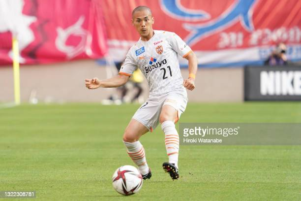 Ryo Okui of Shimizu S-pulse in action during the J.League YBC Levain Cup Playoff Stage second leg match between Kashima Antlers and Shimizu S-Pulse...