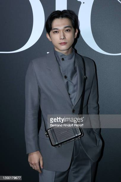 Ryo Yoshizawa attends the Dior Homme Menswear Fall/Winter 20202021 show as part of Paris Fashion Week on January 17 2020 in Paris France