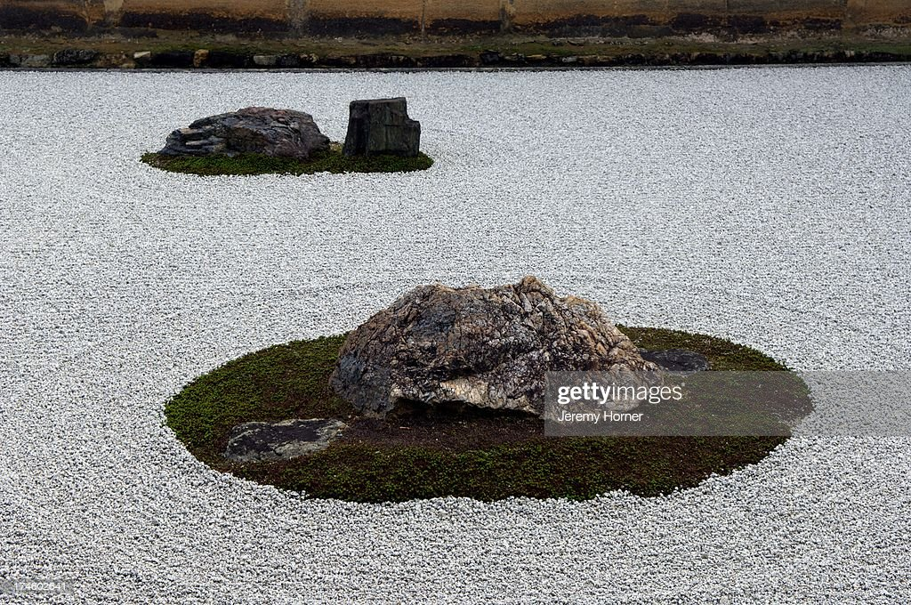 Ryoan Ji (The Temple of the Dragon at Peace)  Zen temple,... : News Photo