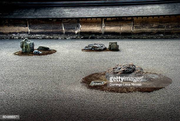CONTENT] Ryoanji Temple World heritage in Kyoto Prunus pendula Japanese