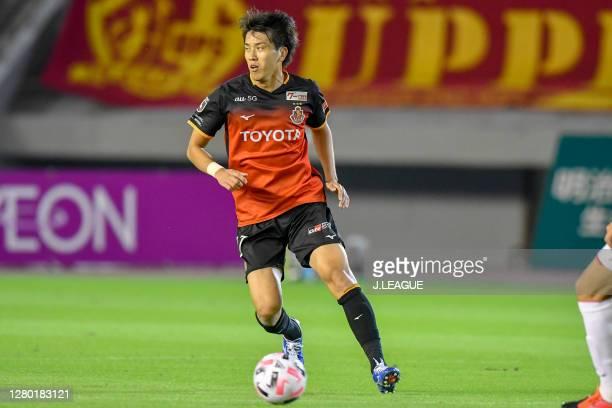 Ryogo YAMASAKI of Nagoya Grampus in action during the J.League Meiji Yasuda J1 match between Nagoya Grampus and Consadole Sapporo at Paloma Mizuho...