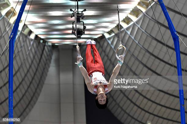 Ryohei Kato competes in the Rings during the Artistic Gymnastics NHK Trophy at Yoyogi National Gymnasium on May 5 2016 in Tokyo Japan