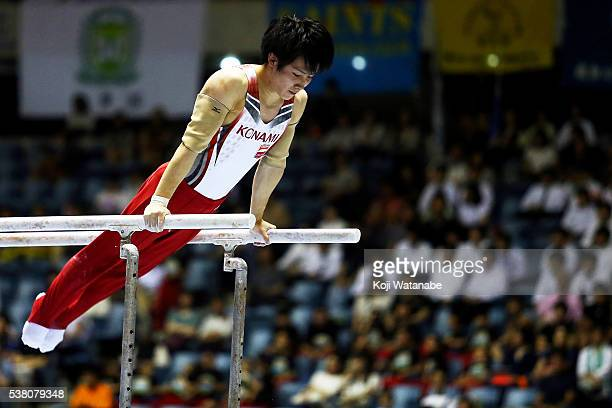 Ryohei Kato @ competes on the parrallel bars during the AllJapan Gymnastic Appratus Championshipsat Yoyogi National Gymnasium on June 4 2016 in...