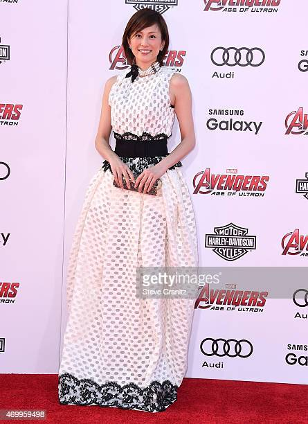"""Ryoko Yonekura arrives at the Marvel's """"Avengers: Age Of Ultron"""" - Los Angeles Premiere at Dolby Theatre on April 13, 2015 in Hollywood, California."""