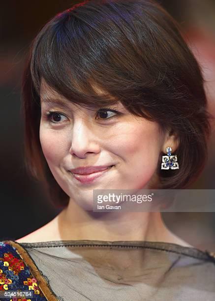 "Ryoko Yonekura arrives for UK film premiere ""Captain America: Civil War"" at Vue Westfield on April 26, 2016 in London, England"