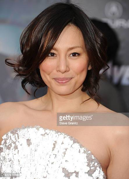 Ryoko Yonekura attends the Los Angeles premiere of 'Marvel's Avengers' at the El Capitan Theatre on April 11 2012 in Hollywood California