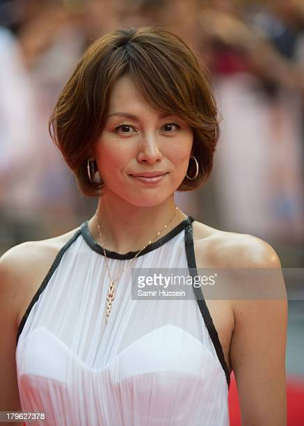 """Ryoko Yonekura attends the World Premiere of """"Diana"""" at Odeon Leicester Square on September 5, 2013 in London, England."""