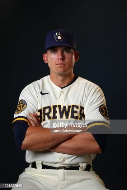 Ryon Healy of the Milwaukee Brewers poses during the Milwaukee Brewers Photo Day on February 19, 2020 in Phoenix, Arizona.