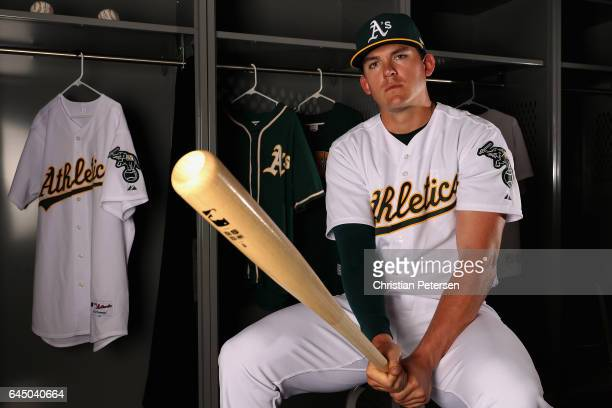 Ryon Healy of the Oakland Athletics poses for a portrait during photo day at HoHoKam Stadium on February 22, 2017 in Mesa, Arizona.