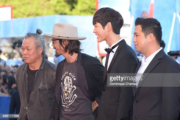 Ryoo SeungBum director Kim Kiduk and guests attend the opening ceremony and premiere of 'La La Land' during the 73rd Venice Film Festival at Sala...
