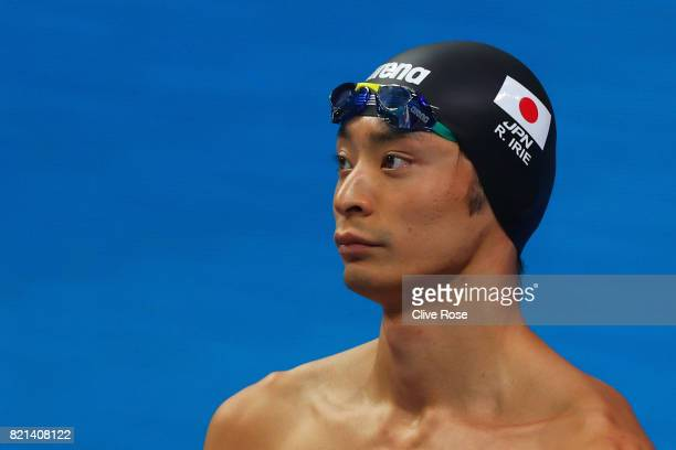 Ryosuke Irie of Japan competes during the Men's 100m Breaststroke Heats on day eleven of the Budapest 2017 FINA World Championships on July 24 2017...