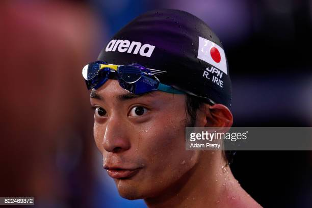 Ryosuke Irie of Japan looks on following the Men's 100m Backstroke Final on day twelve of the Budapest 2017 FINA World Championships on July 25 2017...