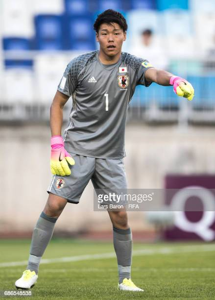 Ryosuke Kojima of Japan gives instructions during the FIFA U20 World Cup Korea Republic 2017 group D match between South Africa and Japan at Suwon...