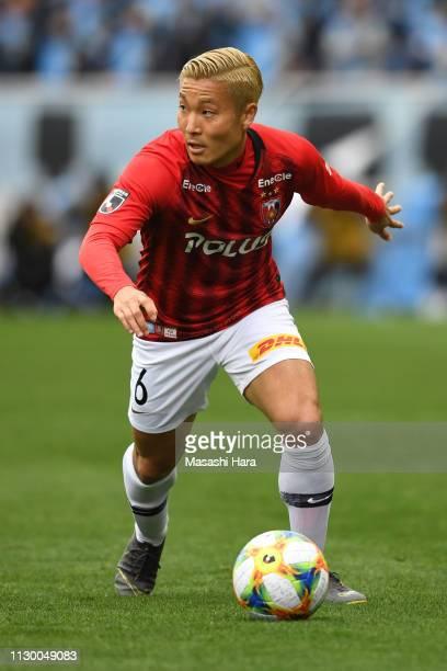 Ryosuke Yamanaka of Urawa Red Diamonds in action during the Fuji Xerox Super Cup between Kawasaki Frontale and Urawa Red Diamonds at Saitama Stadium...