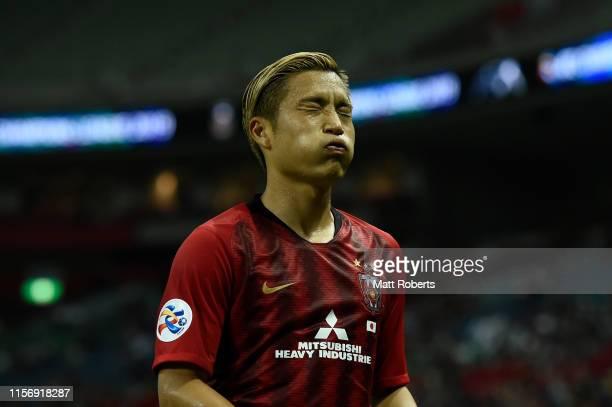 Ryosuke Yamanaka of Urawa Red Diamonds looks dejected during the AFC Champions League round of 16 first leg match between Urawa Red Diamonds and...