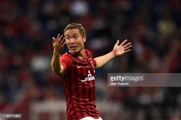 Ryosuke Yamanaka of Urawa Red Diamonds reacts during the AFC Champions League Group G match between Urawa Red Diamonds and Beijing Guoan at Saitama...