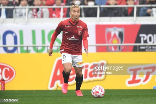 Ryosuke Yamanaka of Urawa Reds in action during the J.League YBC Levain Cup Group B match between Urawa Red Diamonds and Vegalta Sendai at Saitama...