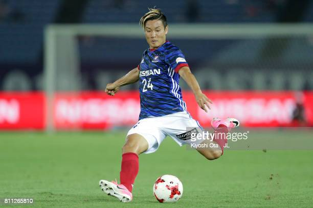 Ryosuke Yamanaka of Yokohama F.Marinos in action during the J.League J1 match between Yokohama F.Marinos and Sanfrecce Hiroshima at Nissan Stadium on...