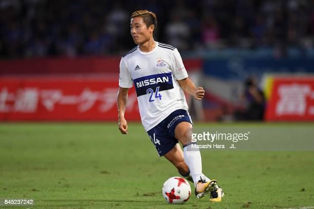 Ryosuke Yamanaka of Yokohama F.Marinos in action during the J.League J1 match between Kawasaki Frontale and Yokohama F.Marinos at Todoroki Stadium on...