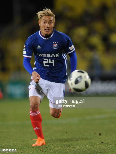 Ryosuke Yamanaka of Yokohama F.Marinos in action during the J.League J1 match between Kashiwa Reysol and Yokohama F.Marinos at Sankyo Frontier...
