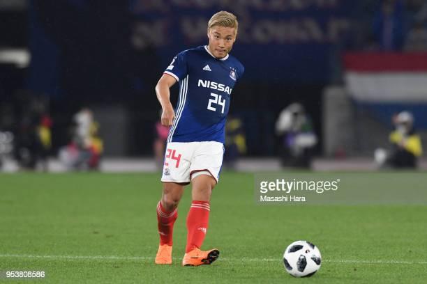Ryosuke Yamanaka of Yokohama F.Marinos in action during the J.League J1 match between Yokohama F.Marinos and Jubilo Iwata at Nissan Stadium on May 2,...