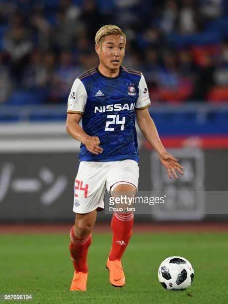 Ryosuke Yamanaka of Yokohama FMarinos in action during the JLeague J1 match between Yokohama FMarinos and Gamba Osaka at Nissan Stadium on May 12...