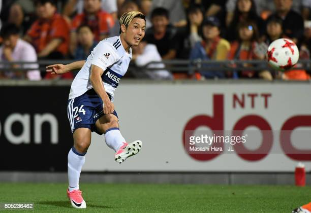 Ryosuke Yamanaka of Yokohama FMarinos scores his side's second goal during the JLeague J1 match between Omiya Ardija and Yokohama FMarinos at NACK 5...