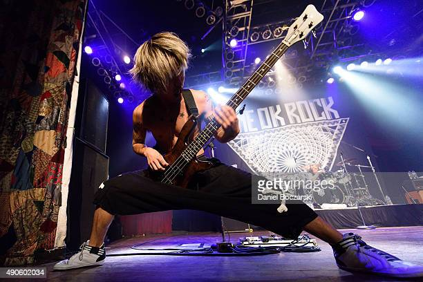 Ryota Kohama of One Ok Rock performs at House Of Blues Chicago on September 29 2015 in Chicago Illinois