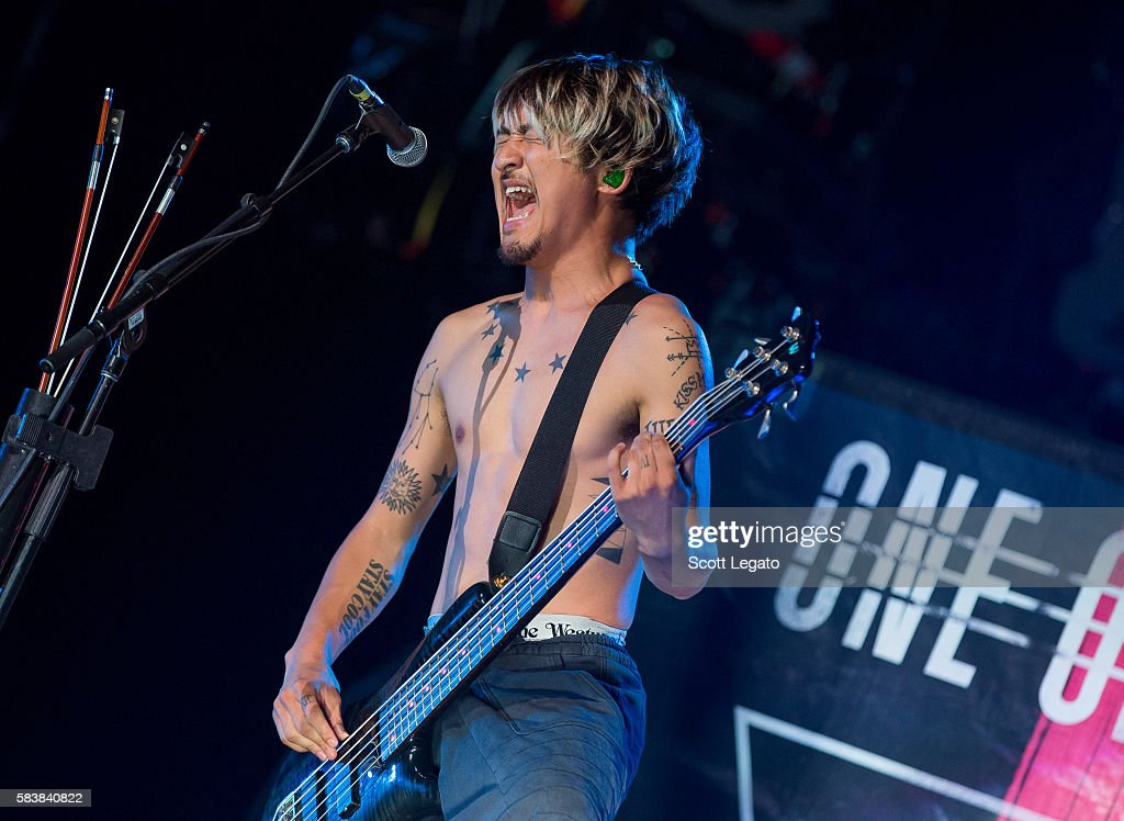 Ryota Kohama of One OK Rock performs at The Palace of Auburn Hills on July 27, 2016 in Auburn Hills, Michigan.