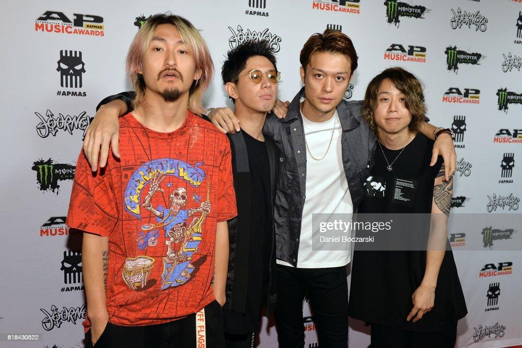 Ryota Kohama, Takahiro Moriuchi, Toru 'Taka' Yamashita and Tomoya Kanki of One OK Rock attend the 2017 Alternative Press Music Awards at KeyBank State Theatre on July 17, 2017 in Cleveland, Ohio.