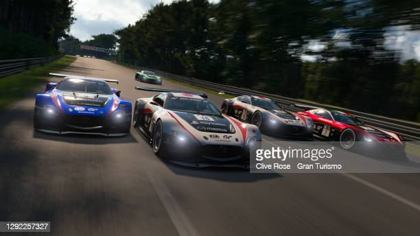Ryota Kokubun 1942mi) of Japan in actoin during the Nations Cup grand final of the FIA Gran Turismo World Tour 2020 Finals run at the virtual Le Mans...