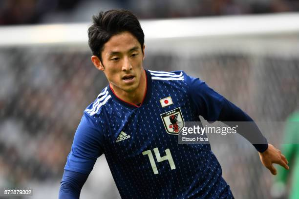 Ryota Morioka of Japan in action during the international friendly match between Brazil and Japan at Stade PierreMauroy on November 10 2017 in Lille...