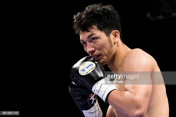 Ryota Murata of Japan battles Felipe Pedroso of Brazil on their welterweight fight during the Clash of Champions on 14 May 2016 in Hong Kong China